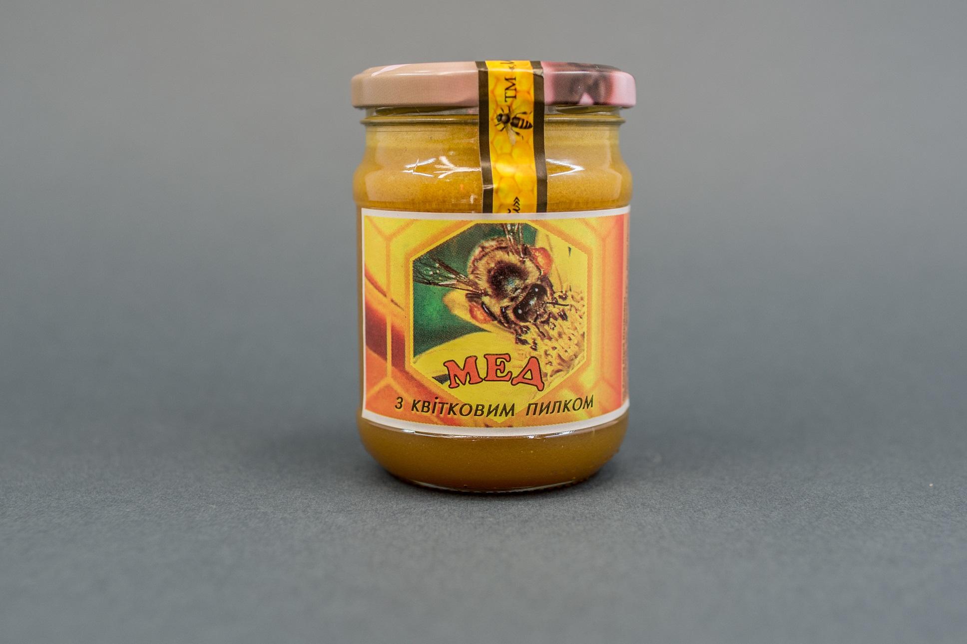 Мед з квітковим пилком